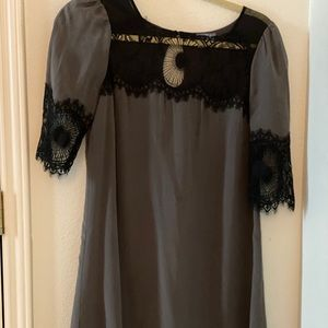 Silk and lace Anthropologie dress